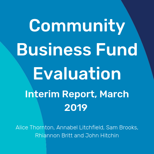 Community Business Fund Evaluation Cover