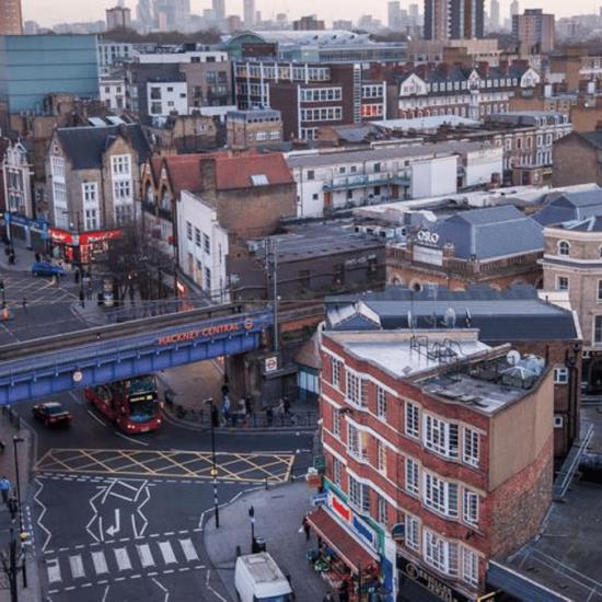 Hackney aerial shot