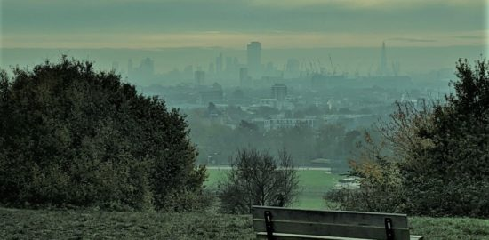 Bench overlooking London