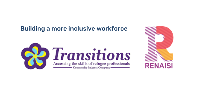Transitions and Renaisi logos: building a more inclusive workforce