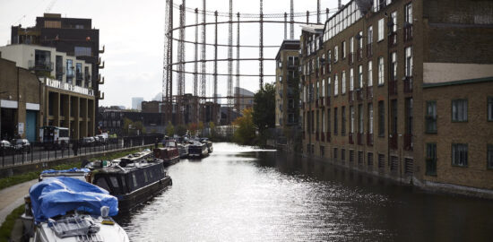 hackney canal and gas works