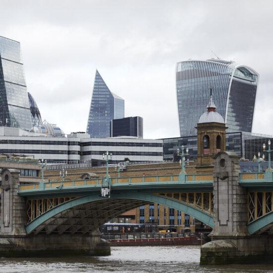 View across London Bridge